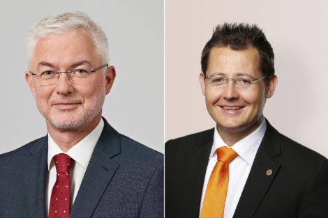 Gerd-Dieter Krieger (l.), Geschäftsführer der AG Brennstoffzellen im VDMA, und Michael Büchler, Spezialist im Bereich Industrialisierung von Wasserstoff-Technologie bei Kuka. Bilder: VDMA, Kuka